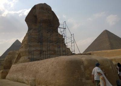 Szfinx lábánál - Egyiptom